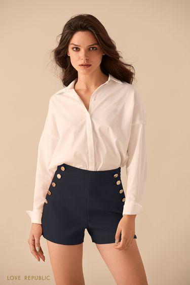 Рубашка с удлинённой спинкой 9359258317
