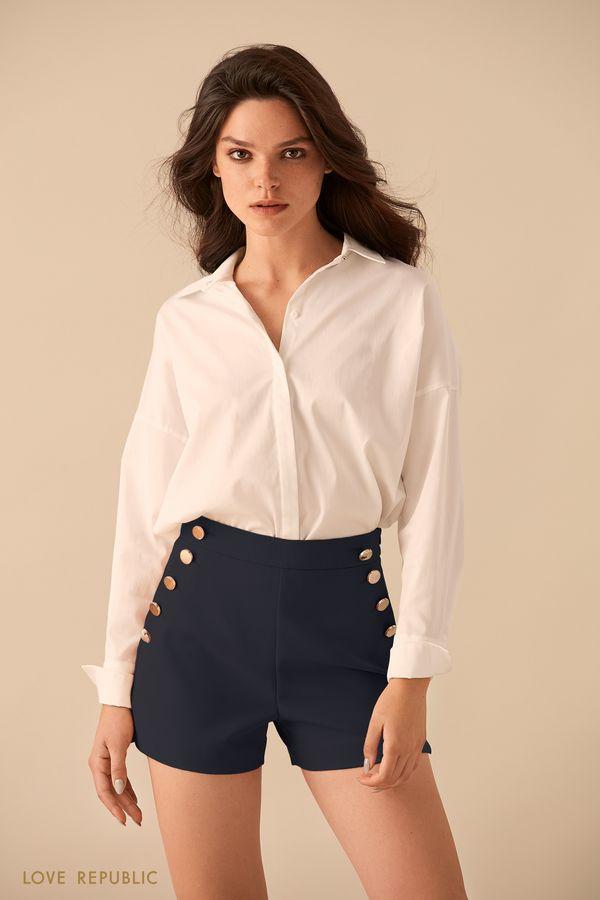 Рубашка с удлинённой спинкой 9359258317-1