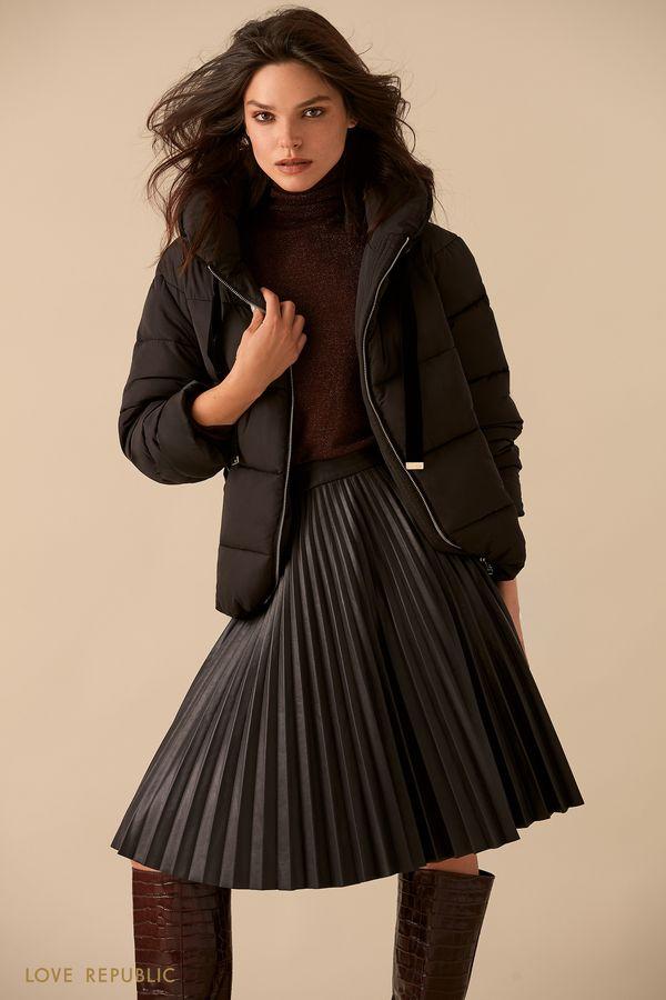 Стёганая куртка с высоким воротником  9359473113-50