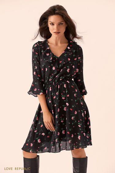 Платье с мелким цветочным принтом 9359505560