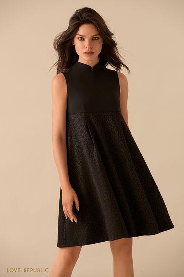 Платье без рукавов с завышенной талией 9359567555