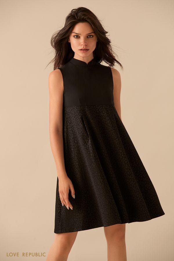 Платье без рукавов с завышенной талией 9359567555-50
