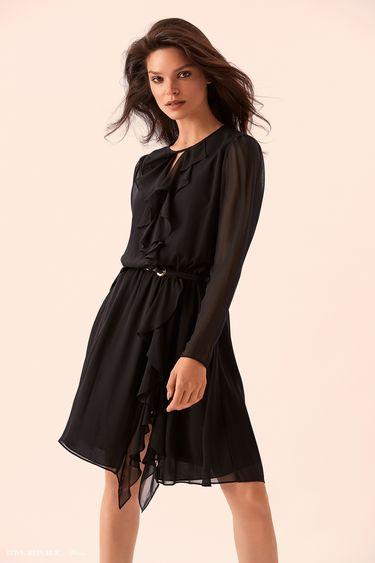Платье с драпировками и разрезом 9359755502