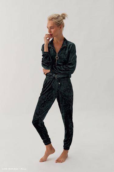 Домашние брюки из велюровой ткани 938063841