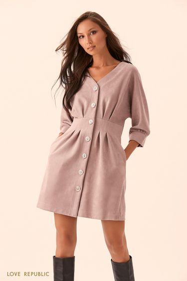 Платье длины мини цвета лаванды 9450065525