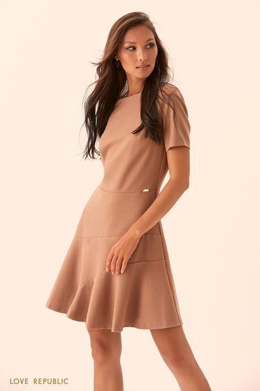 Платье мини с короткими рукавами 9450075530