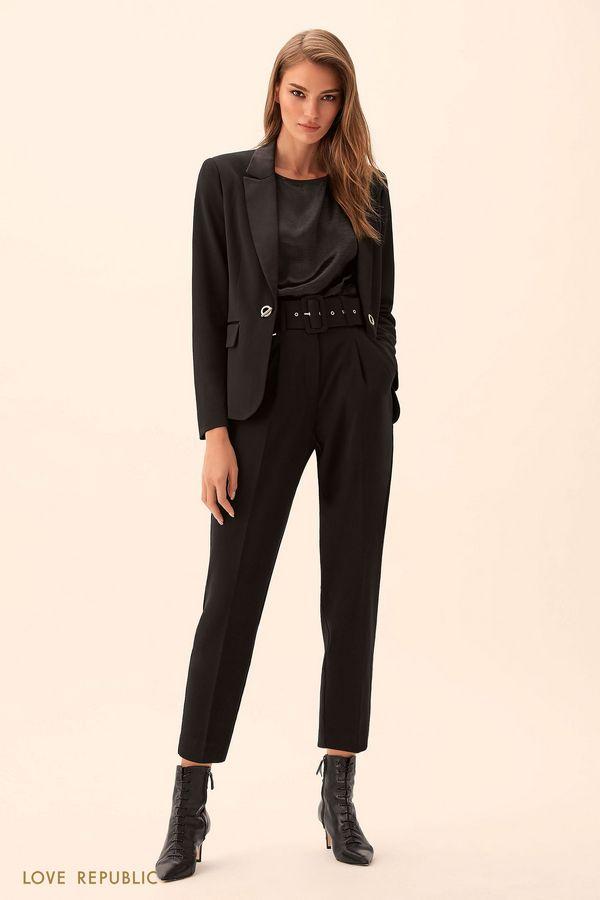 Укороченные брюки с широким поясом 9450077739-50