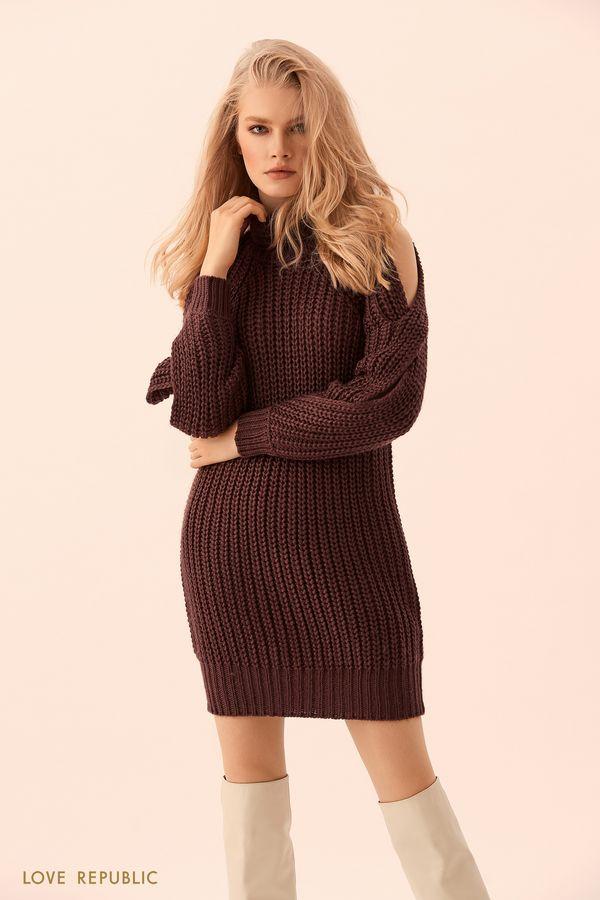Платье-свитер фактурной вязки 9450642557-22