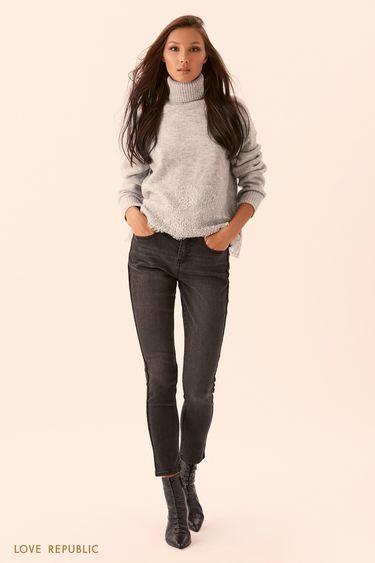 Серые узкие джинсы 9450941721