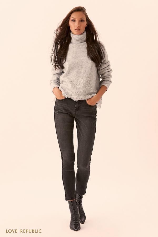 Серые узкие джинсы 9450941721-109
