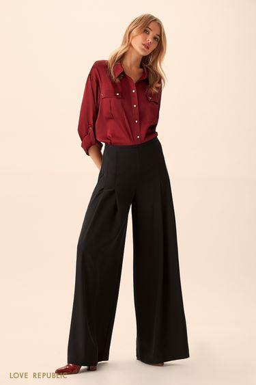 Широкие брюки с защипами 9451069729