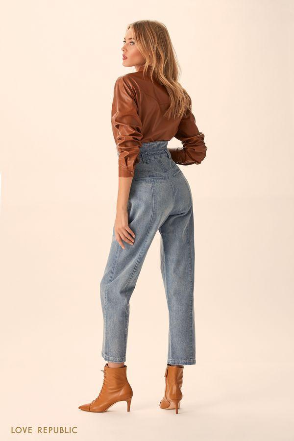 Укороченные джинсы цвета индиго 9451941734-103
