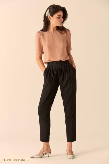 Укороченные брюки с эластичным поясом 9452011729