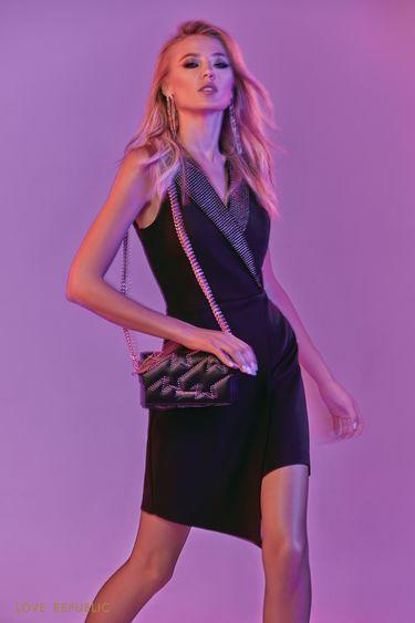 Платье асимметричного кроя в стиле смокинга 9452102561